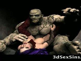 Scary ogres bang 3d meisjes!