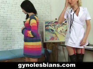Lesbiete gynecologist seducing pacients