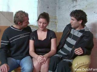 Random هولندي مجموعة من ثلاثة أشخاص في holland, حر الاباحية ea