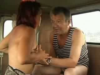 Big Titty Redhead doll sucks homeless sticking man shaft