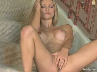 Breasty Heather Vandeven Fingering Her Soaked Cunt And Tight Pussy