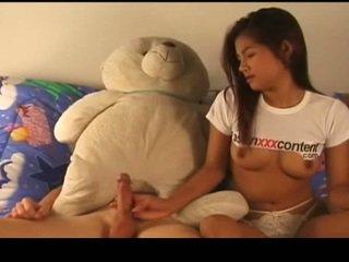 Tailandesa nymph has follada corriente