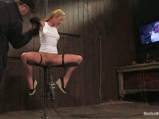 Lecherous Blonde Mason Has Her Vag Toyed In Awesome Sadism Vid