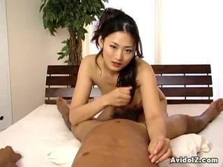 Karstās aziāti koledža cutey pie touches onto janitor dong.