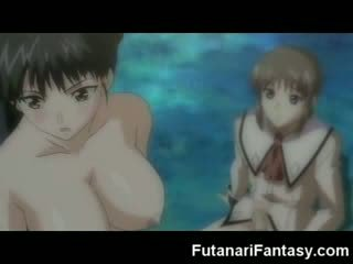 Futanari hentai multene shemale anime manga tranny multene anime jizz šāviens dzimumloceklis dzimumloceklis transexual sejas masāža jizz mad dickgirl