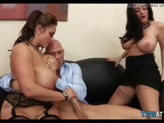 Big Tit Threesome at Work, Free At Work Porn 16