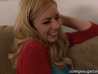 coed, college-mädchen, niedlich