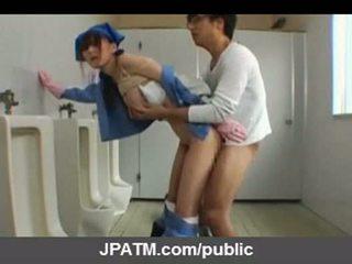Japanska offentlig kön - asiatiskapojke tonåren exposing utanför part03