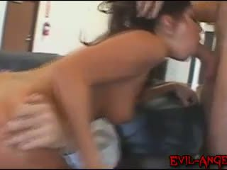 Britney Stevens double anal fucked in this gang bang