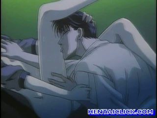 Virgin hentai guy getting his cock sucked
