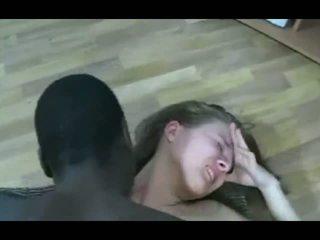 Negra guy marcas rubia adolescente