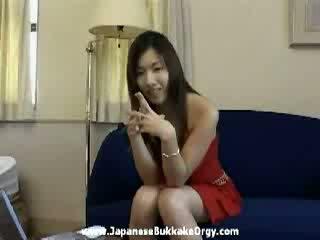 Japanese Bukkake nice girl temptation