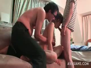 Asian Teen Takes Two Dicks In One Hole