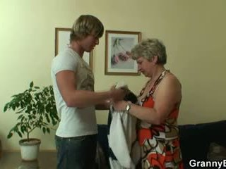 Fortunato guy fucks lonely nonnina