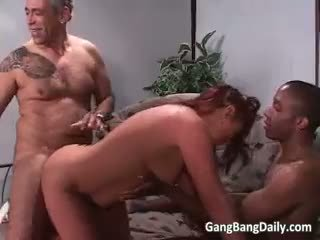 Divorced Chubby Mommy Gets Gang Banged Part5