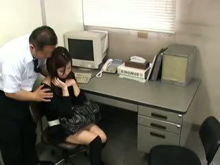 brunett, japansk, voyeur
