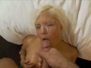 cumshots, blonde, tratamente faciale