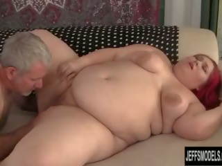 Jumbo Sized Slut Takes a Thick Cock in Her Fleshy Cunt