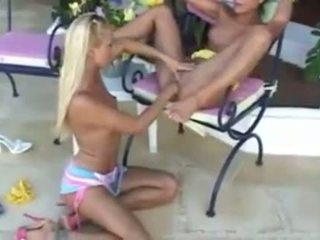 păsărică lins, lesbiene, fata pe fata