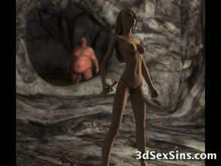 Ogres spunk pada 3d babes!