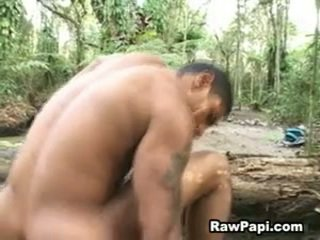 Latin Hunk With Bold Wazoo Barebacking On Top And Cumshots