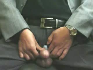 Male masturbation in office