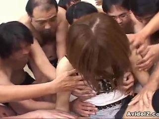 Japoneze vogëlushe touched nga shumë men uncensored