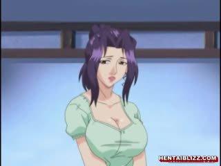 Japán hentai anya -val hatalmas jugs gets szar által régi férfi
