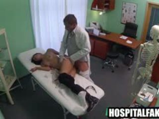 Petite Brunette Babe Gets Fucked Hard By Her Doctor