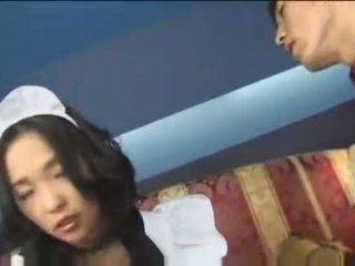 Japanese maid with big milky tits