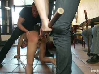 Restaurant Patrons Abuse A Bad Waiter And Make Him Serve Naked In Public