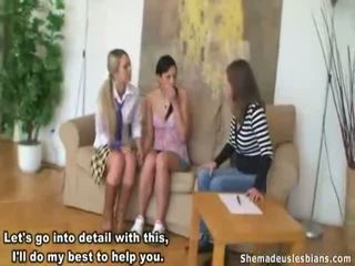 Karina Licks Stefani's Swollen Nipples.