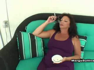 brunette, cougar, smoking